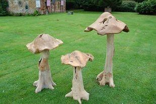 decoration de jardin champignon